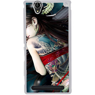 ifasho tatoo girl Back Case Cover for Sony Xperia T2