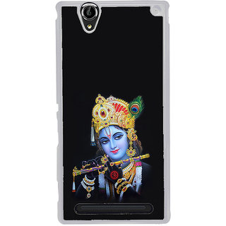 ifasho Lord Krishna with Flute Back Case Cover for Sony Xperia T2