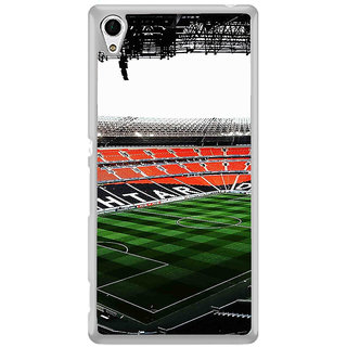 ifasho Football stadium field Back Case Cover for Sony Xperia Z3 Plus