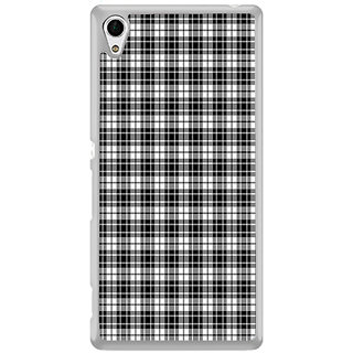 ifasho Modern Theme of black and white Squre lines Back Case Cover for Sony Xperia Z3 Plus
