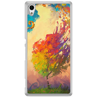 ifasho Tree Painting Back Case Cover for Sony Xperia Z3 Plus