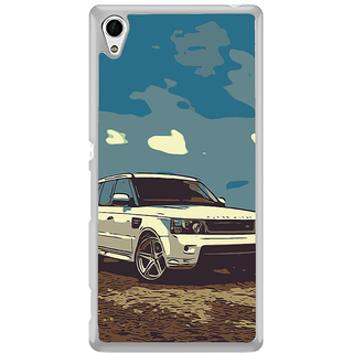 ifasho Vintage white Car Back Case Cover for Sony Xperia Z3 Plus