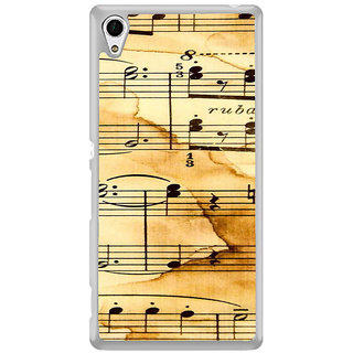 ifasho Animated Pattern design black and white music symbols and lines Back Case Cover for Sony Xperia Z3 Plus
