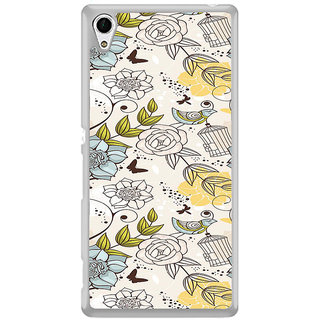 ifasho Animated Pattern colrful design flower and cage and birds Back Case Cover for Sony Xperia Z3 Plus