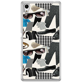 ifasho Modern Art Design Pattern man dress shoes spec belt Back Case Cover for Sony Xperia Z3 Plus