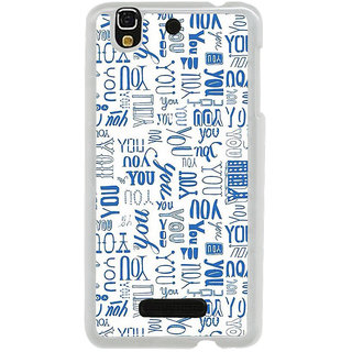 ifasho You letter pattern Back Case Cover for Yureka