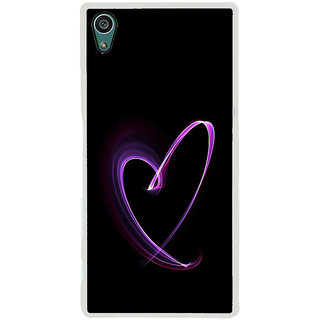 ifasho Modern Art Design heart animated Back Case Cover for Sony Xperia Z5
