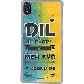 ifasho dil vil pyar vyar quotes Back Case Cover for Sony Xperia Z3