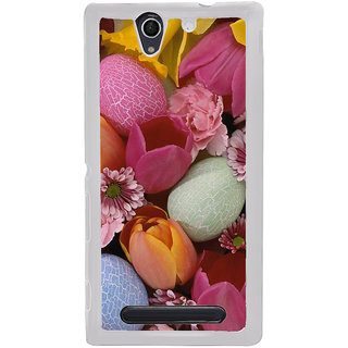 ifasho Bunch of Diffrent Flower Back Case Cover for Sony Xperia C4