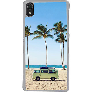 ifasho Bus on a beach Back Case Cover for Sony Xperia Z3