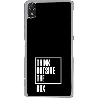 ifasho Think Out of Box Back Case Cover for Sony Xperia Z3