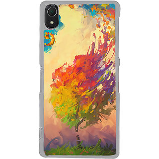 ifasho Tree Painting Back Case Cover for Sony Xperia Z3