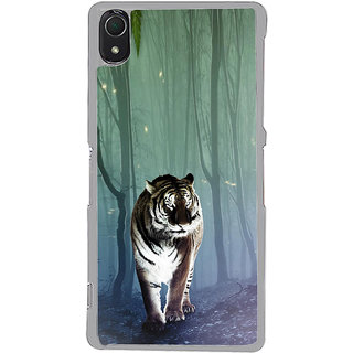 ifasho Animated Pattern With Tiger Back Case Cover for Sony Xperia Z3