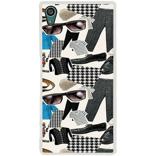 ifasho Modern Art Design Pattern man dress shoes spec belt Back Case Cover for Sony Xperia Z5