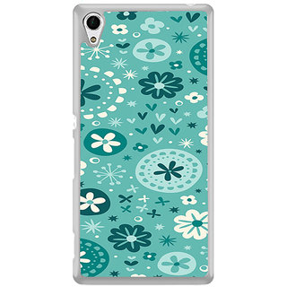ifasho Modern Art Design animated cloth Pattern of flower Back Case Cover for Sony Xperia M4 Aqua