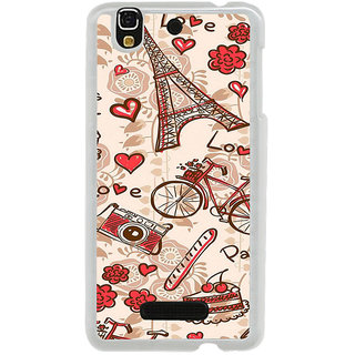 ifasho Modern Art Design Pattern Bicycle camera cake tower Back Case Cover for Yureka