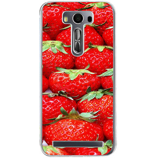 ifasho Modern  Design Pattern Strwberry wall paper Back Case Cover for Zenfone 2 Laser ZE500KL