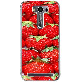 ifasho Modern  Design Pattern Strwberry wall paper Back Case Cover for Zenfone 2 Laser ZE500KL