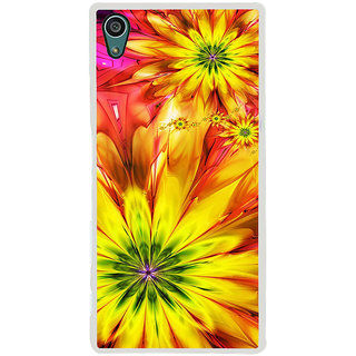 ifasho Flower Design multi color Back Case Cover for Sony Xperia Z5