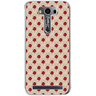 ifasho Animated Pattern small red rose flower Back Case Cover for Zenfone 2 Laser ZE500KL