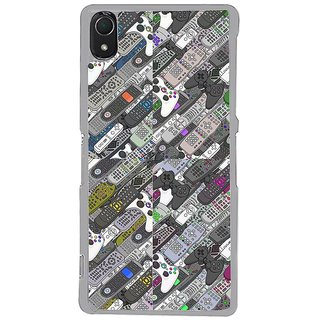 ifasho Animated Pattern  littel and Big colourful remotes Back Case Cover for Sony Xperia Z3
