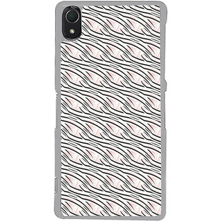 ifasho Design lines pattern Back Case Cover for Sony Xperia Z3