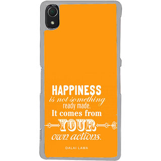 ifasho Faith  Quote on happiness Back Case Cover for Sony Xperia Z3
