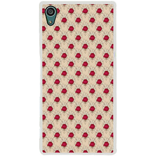 ifasho Animated Pattern small red rose flower Back Case Cover for Sony Xperia Z5