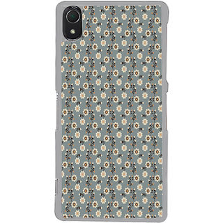 ifasho Animated Pattern colrful design flower with leaves Back Case Cover for Sony Xperia Z3