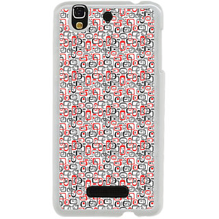 ifasho Modern Theme of colorful Squre inside square and dots Back Case Cover for Yureka