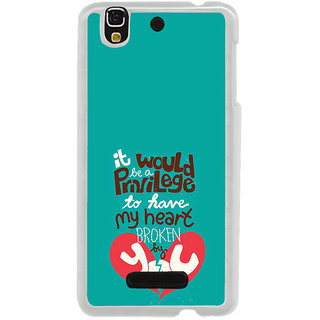 ifasho Heart Break Girl Back Case Cover for Yureka