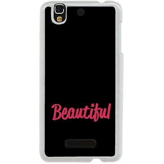 ifasho Bautiful word Back Case Cover for Yureka