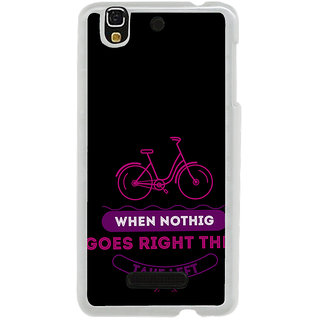 ifasho Right and Wrong Quote Back Case Cover for Yureka