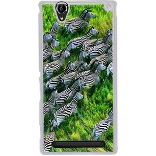 ifasho Zebra with Stripes Back Case Cover for Sony Xperia T2