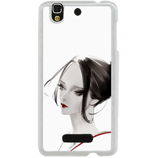 ifasho Chinese Girl Back Case Cover for Yureka