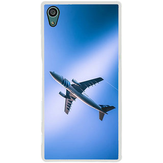 ifasho aeroPlane flying in blue sky Back Case Cover for Sony Xperia Z5