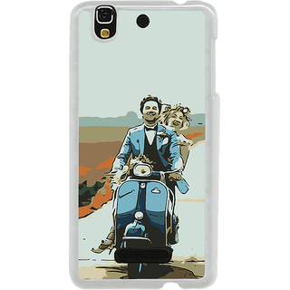 ifasho husband and wife happy drive in scooter Back Case Cover for Yureka