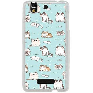 ifasho Animated Design  Many Cat Back Case Cover for Yureka