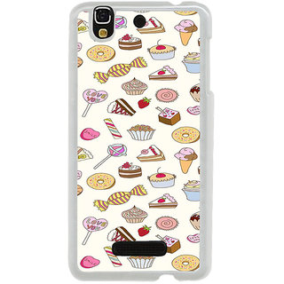 ifasho Animated food pattern Back Case Cover for Yureka