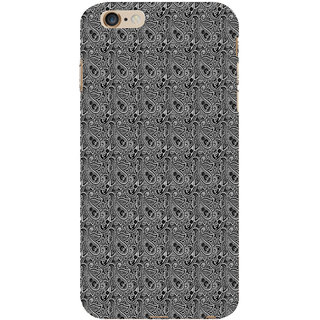 ifasho Animated Pattern design black and white flower in royal style Back Case Cover for Apple iPhone 6S Plus
