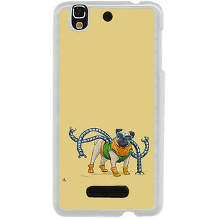 ifasho Dog with colourful  Specs Back Case Cover for Yureka