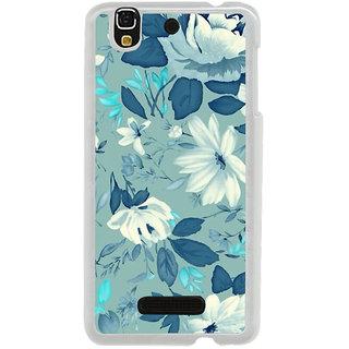 ifasho Modern Art Design animated cloth Pattern of flower Back Case Cover for Yureka