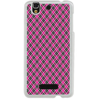 ifasho Colour Full Square Pattern Back Case Cover for Yureka