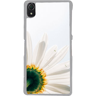 ifasho Flower Design white flower in white background Back Case Cover for Sony Xperia Z3