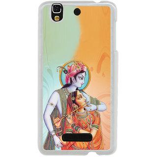 ifasho Lord Krishna and Meera Back Case Cover for Yureka