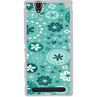 ifasho Modern Art Design animated cloth Pattern of flower Back Case Cover for Sony Xperia T2