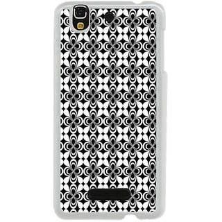 ifasho Animated Pattern design black and white flower in royal style Back Case Cover for Yureka