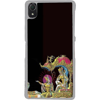 ifasho krishna driving Chariot of Arjun Back Case Cover for Sony Xperia Z3
