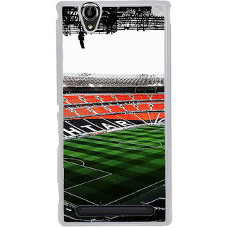 ifasho Football stadium field Back Case Cover for Sony Xperia T2
