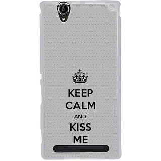 ifasho Nice Quote On Keep Calm Back Case Cover for Sony Xperia T2